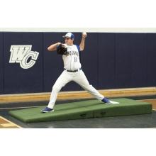 """Proper Pitch 9'6""""Lx4'Wx10""""H Fold'n Roll HS/Collegiate Mound, Green"""
