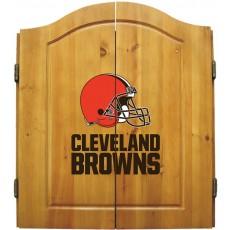 Cleveland Browns NFL Dartboard Cabinet Set