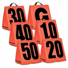 Champro Set of 11 Solid Weighted Football Yard Markers