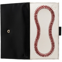 Leather Baseball Checkbook Wallet