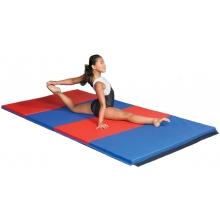 """Gymnastics Mat, 1-1/2"""" Foam, 4' x 6', 2 Velcro Ends"""