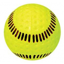 """Baden 12"""" PSBRSY Dimpled Machine Softball, Yellow with Red Seam"""