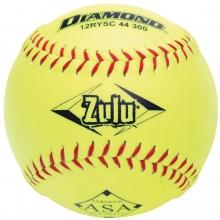 """Diamond 12RYSC 44/300 Zulu ASA Synthetic Slowpitch Softball, 12"""""""