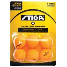 Stiga 1-Star Table Tennis Balls, Orange, 6-Pack