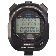 Ultrak 495 100 Lap Memory Stopwatch, BLACK