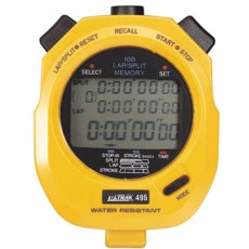 Ultrak 495 100 Lap Memory Stopwatch, YELLOW