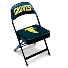 "Clarin Basketball Sideline Chair w/ 3"" Cushion, 2 COLOR LOGO"