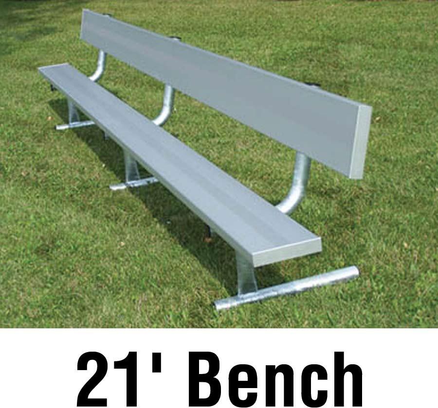 Aluminum Player Bench W Backrest Portable 21 39
