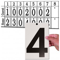 Set of Numbers for Manual Scoreboard