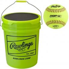 "Rawlings Ultimate Practice (18) 11"" Softball/Bucket Combo, B618RBP11-UP"