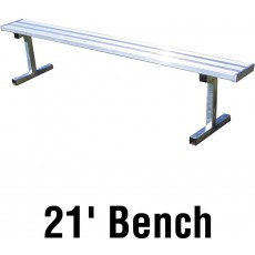 Jaypro 21' PORTABLE Aluminum Player Bench, PB-5