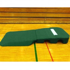 "Portolite 10""Hx9'6""Lx5'W Oversize Indoor/Outdoor Turf Practice Pitching Mound, Green"
