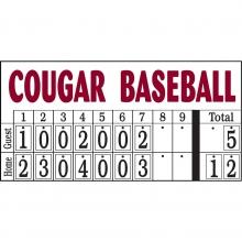 Sportables Manual Baseball-Softball Scoreboard, 8'Wx4'H