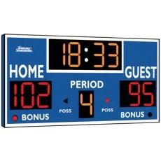 Sportable Scoreboard 2230 Basketball / Volleyball / Wrestling Scoreboard, 8'Wx4'H