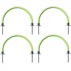 "Kwik Goal 19""W Soccer Training Arches, Hi-Vis Green, 16A1324"