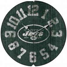 New York Jets Vintage Round Clock