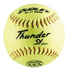 "Dudley 11"" SY11 GWSP 44/375 ASA Thunder Synthetic Slowpitch Softballs, dz"