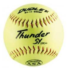"Dudley SY11 GWSP 11"", 44/375 ASA Thunder Synthetic Slowpitch Softballs, dz"