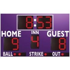 3312LED Baseball / Softball Scoreboard w/ Timer, 8'W x 6'H