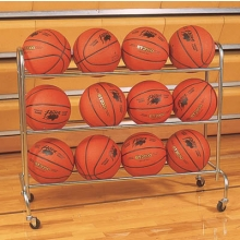Champion 12 Ball Wide Base Basketball Ball Rack, BRC3