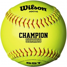"Wilson 12"" A9016 47/375 Champion NFHS Leather Cork Softball, WTA9016BSST"