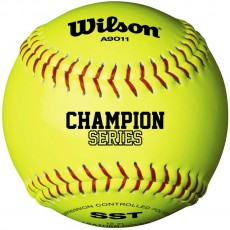 "Wilson 12"" A9011 47/375 Champion NFHS Leather Poly Softball, WTA9011 BSST"