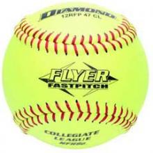 "Diamond 12RFP 47/375 CL NFHS Leather Fastpitch Softballs, 12"""