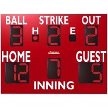 Sportable Scoreboards 3375 Baseball-Softball Scoreboard, 8'W x 6'H