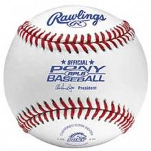 Rawlings RPLB-1 Regular Season Pony Baseballs, dz