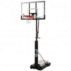 "Spalding Ultimate Hybrid Jr. Quick Glide 50"" Portable Basketball Hoop"