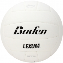 Baden VX450 Lexum Soft-Touch Composite Volleyball, WHITE