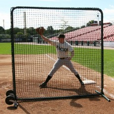 ProMounds Premium Baseball Protective Screen, Frame & Net, 7' x 7'