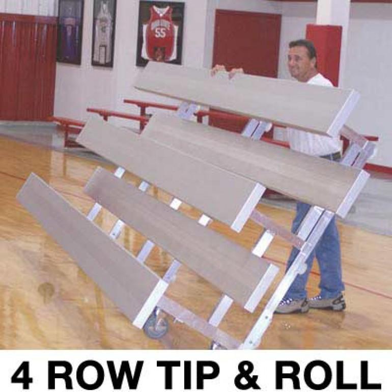4 Row 15 Standard Low Rise Tip Amp Roll Bleacher A07 682