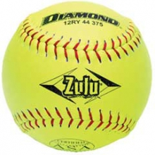 Diamond 12RYSC 44/375 Zulu Synthetic Slowpitch Softball, 12''