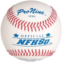 Pro Nine NFHS Official Baseballs, dz w/NOCSAE Stamp