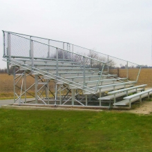 10 Row, 15' PREFERRED Large Capacity Bleacher