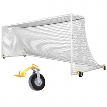 Kwik Goal 8'x24' Deluxe European Club Soccer Goal w/ Swivel Wheels, 2B3006SW