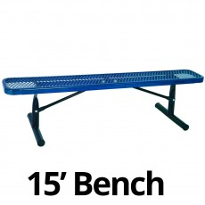 UltraPlay 15' Diamond Plastic Coated Portable Bench