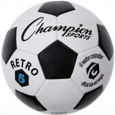 Champion Retro Black & White Soccer Ball, Size 3, 4 & 5
