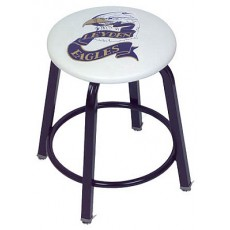 "Clarin Locker Stool, 18""H WITH 2 COLOR LOGO"