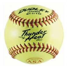 "Dudley 11"", 4A-531 47/375 ASA Thunder Heat Leather Fastpitch Softball, dz"