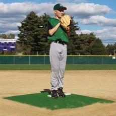 "Promounds MP3002G Minor League Game Mound, 6'L x 5'W x 6""H, Green"