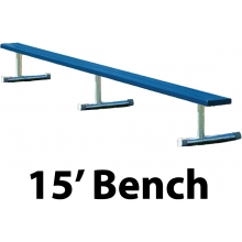 15' Portable Aluminum Powder Coated Player Bench, BEPI15C