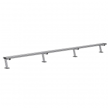 Jaypro 21' SURFACE MOUNT Aluminum Player Bench, PB-5SM