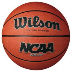 "Wilson NCAA MVP Junior 27.5"" Rubber Basketball"