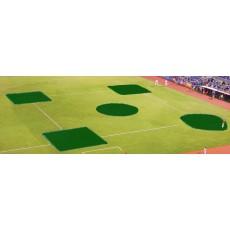 FieldSaver Spot Baseball/Softball Field Covers, Infield Kit, VINYL