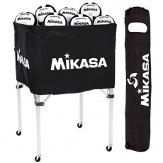 Mikasa BCSPSH Volleyball Cart, BLACK