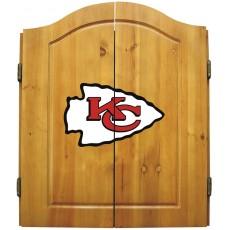 Kansas City Chiefs NFL Dartboard Cabinet Set