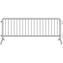 """Crowdstopper 8'6""""L Crowd Control Steel Barricade w/ Bridge Foot"""