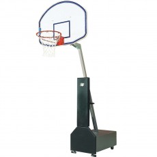 Bison Club Court Portable Basketball Hoop w/ Fiberglass Backboard